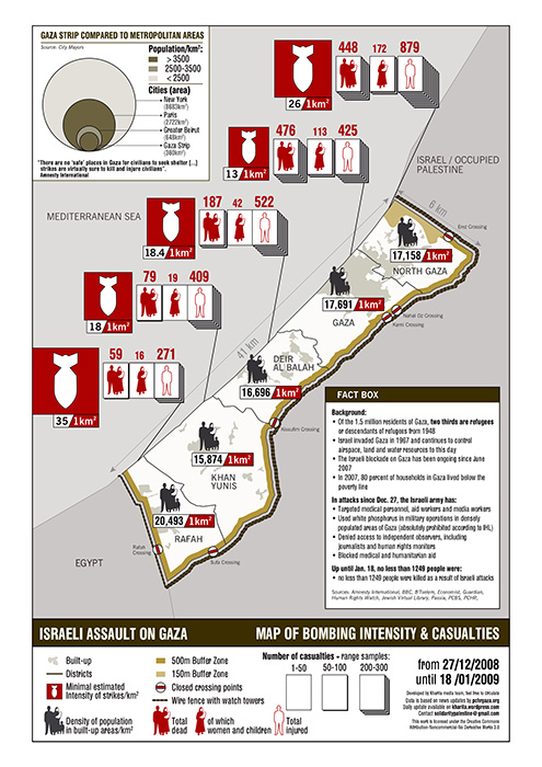 Gaza Map Palestine